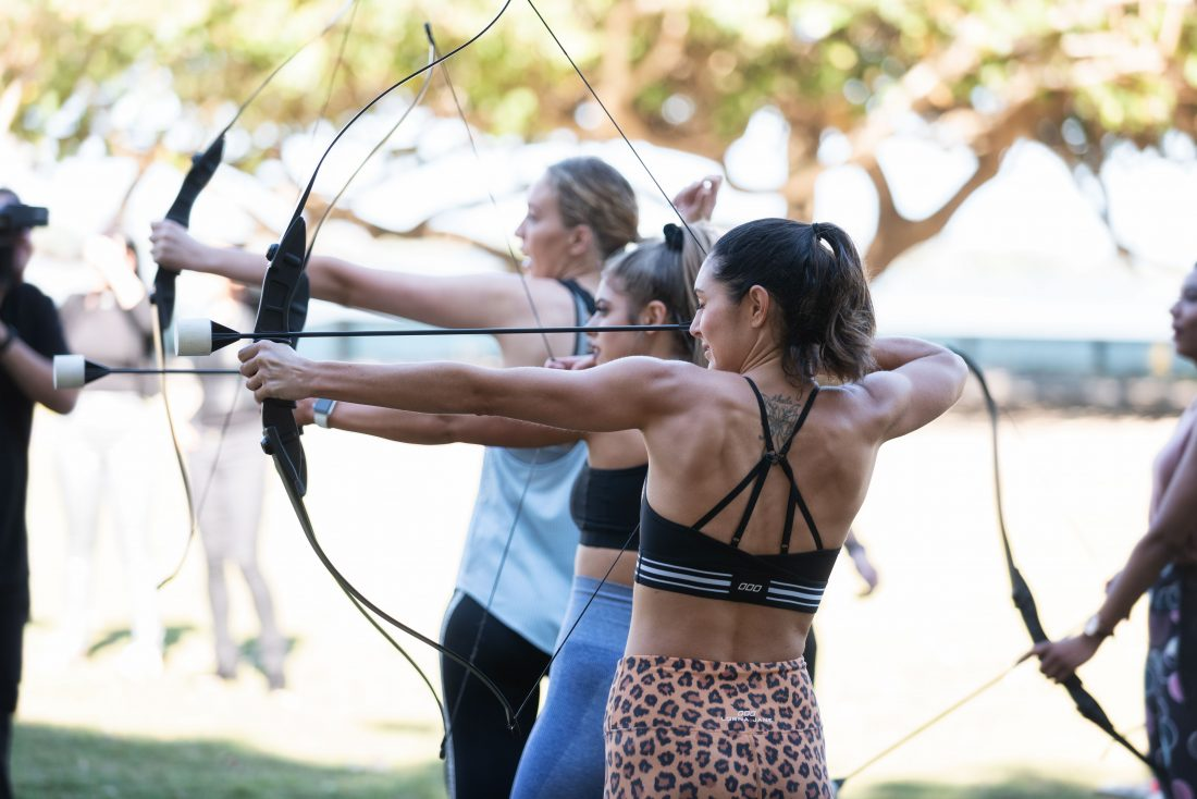Miss Multiverse Australia - Archery with Green Frog Adventures